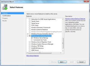 Enabled Features of Windows Server 2008